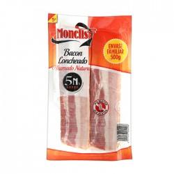 100174001 bacon apilado s.piel lonchas 2x250 gr